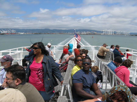 Ferry between Oakland and San Francisco California