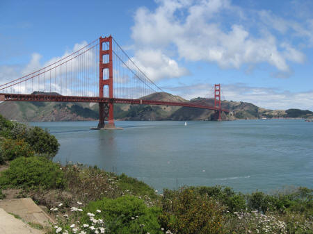 Golden Gate Bridge in San Francisco California