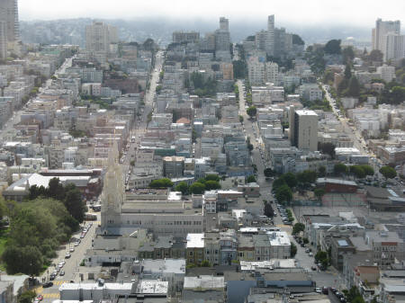 Russian Hill District of San Francisco California