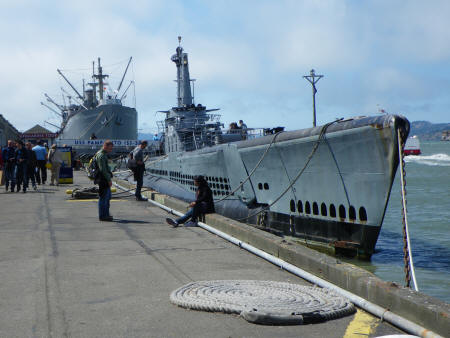 USS Pampanito War Ship in San Francisco California